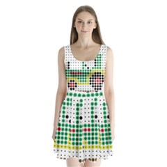 Tractor Perler Bead Split Back Mini Dress