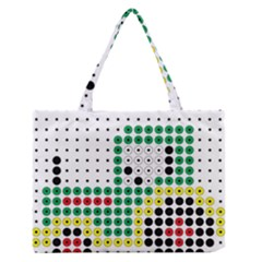 Tractor Perler Bead Medium Zipper Tote Bag