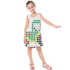 Tractor Perler Bead Kids  Sleeveless Dress