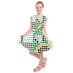 Tractor Perler Bead Kids  Short Sleeve Dress