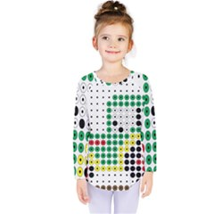Tractor Perler Bead Kids  Long Sleeve Tee