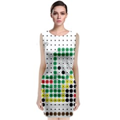 Tractor Perler Bead Sleeveless Velvet Midi Dress