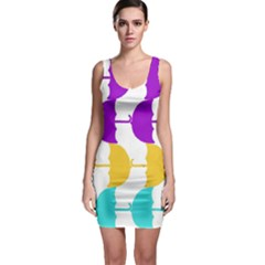 Umbrella Sleeveless Bodycon Dress