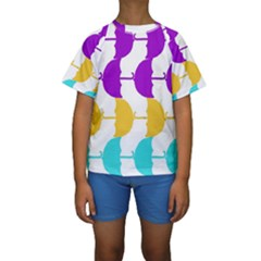 Umbrella Kids  Short Sleeve Swimwear
