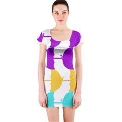 Umbrella Short Sleeve Bodycon Dress