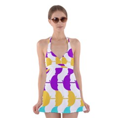 Umbrella Halter Swimsuit Dress