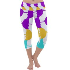 Umbrella Capri Yoga Leggings