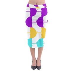 Umbrella Midi Pencil Skirt