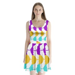 Umbrella Split Back Mini Dress