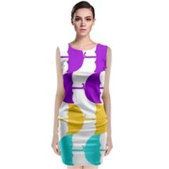 Umbrella Sleeveless Velvet Midi Dress