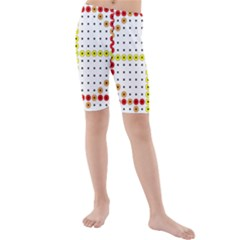Vertical Horizontal Kids  Mid Length Swim Shorts