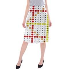 Vertical Horizontal Midi Beach Skirt