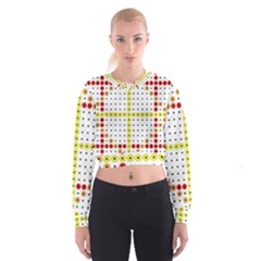 Vertical Horizontal Women s Cropped Sweatshirt