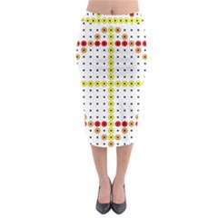 Vertical Horizontal Midi Pencil Skirt