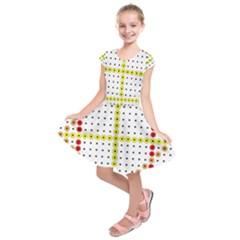 Vertical Horizontal Kids  Short Sleeve Dress
