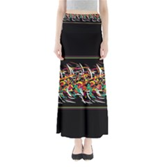 Colorful barbwire  Maxi Skirts