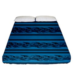 Blue Barbwire Fitted Sheet (california King Size)