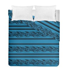 Blue Barbwire Duvet Cover Double Side (full/ Double Size)