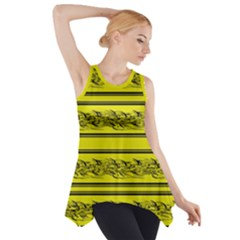 Yellow Barbwire Side Drop Tank Tunic