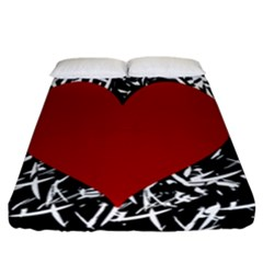 Red Valentine Fitted Sheet (california King Size)