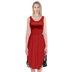 Red Valentine Midi Sleeveless Dress
