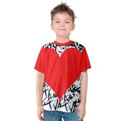 Red Valentine 2 Kids  Cotton Tee