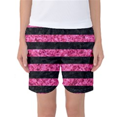 STR2 BK-PK MARBLE Women s Basketball Shorts