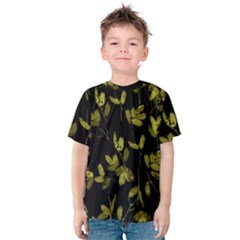 Dark Floral Print Kids  Cotton Tee