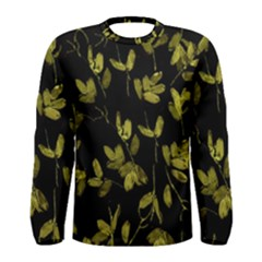Dark Floral Print Men s Long Sleeve Tee
