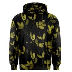 Dark Floral Print Men s Pullover Hoodie