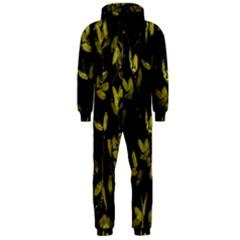 Dark Floral Print Hooded Jumpsuit (Men)