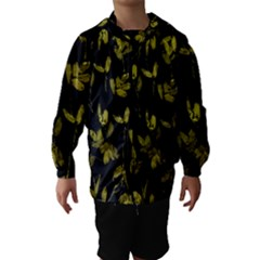 Dark Floral Print Hooded Wind Breaker (Kids)
