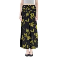 Dark Floral Print Maxi Skirts