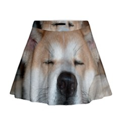 Akita Sleeping Mini Flare Skirt