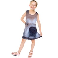 Akita Sleeping Kids  Tunic Dress