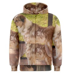 Australian Shepherd Red Merle Full Men s Zipper Hoodie