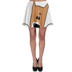 Peeping Basenji Skater Skirt