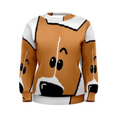 Peeping Basenji Women s Sweatshirt