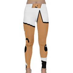 Peeping Basenji Classic Yoga Leggings