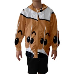 Peeping Basenji Hooded Wind Breaker (Kids)