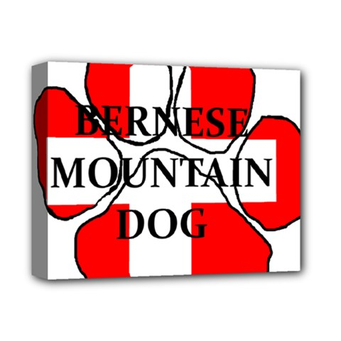 Ber Mt Dog Name Paw Switzerland Flag Deluxe Canvas 14  x 11