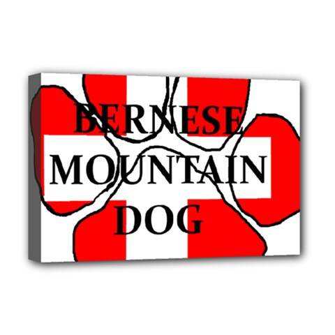 Ber Mt Dog Name Paw Switzerland Flag Deluxe Canvas 18  x 12