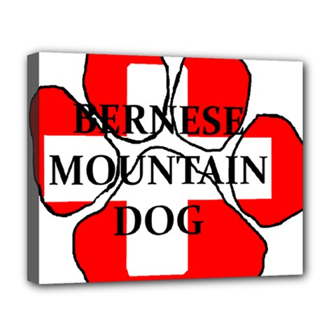 Ber Mt Dog Name Paw Switzerland Flag Deluxe Canvas 20  x 16