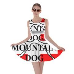 Ber Mt Dog Name Paw Switzerland Flag Skater Dress