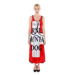 Ber Mt Dog Name Paw Switzerland Flag Sleeveless Maxi Dress
