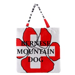 Ber Mt Dog Name Paw Switzerland Flag Grocery Tote Bag