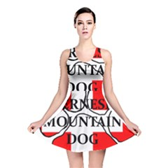 Ber Mt Dog Name Paw Switzerland Flag Reversible Skater Dress