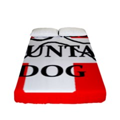 Ber Mt Dog Name Paw Switzerland Flag Fitted Sheet (Full/ Double Size)