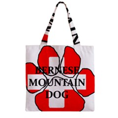 Ber Mt Dog Name Paw Switzerland Flag Zipper Grocery Tote Bag