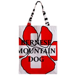 Ber Mt Dog Name Paw Switzerland Flag Zipper Classic Tote Bag